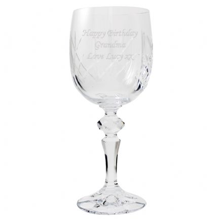 Personalised Crystal Wine Goblet